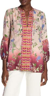 Johnny Was Paris Embroidered Effortless Blouse
