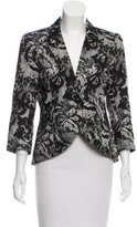 Smythe Printed Notch Lapel Blazer