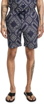 Officine Generale Japanese Bandana Print Shorts