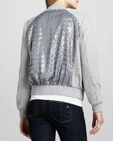 Sultana Boundary Sequined Sweatshirt Jacket