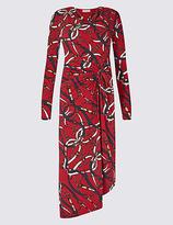 Per Una Chain Print Knot Front Bodycon Midi Dress