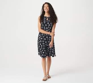 Factory Quacker Nautical Printed Knit Dress