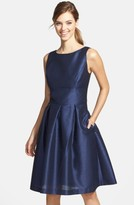 Alfred Sung Women's Dupioni Fit & Flare Dress