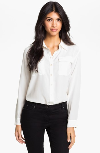 Vince Camuto Two by Silk Utility Shirt