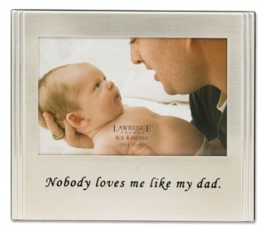 """Lawrence Frames Brushed Metal Dad Picture Frame - Sentiments Collection - 4"""" x 6"""""""