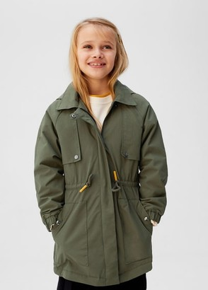 MANGO Quilted lining waterproof parka khaki - 5 - Kids