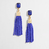J.Crew Factory Beaded tassel earrings