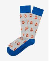 Express cushioned fox dress socks