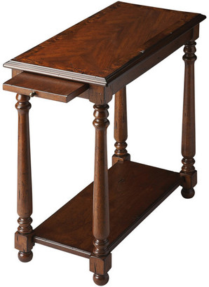 Eurolux Home Side Table Castle Wood Distressed Cherry