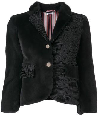 Thom Browne Fun-Mix Fur Sport Coat