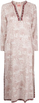 Le Sirenuse Animal-Print Long-Sleeved Midi Dress