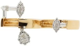 YEPREM 18kt White And Rose Gold Diamond Double Finger Ring