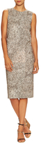 Max Mara Orense Printed Asymmetrical Zip Sheath Dress