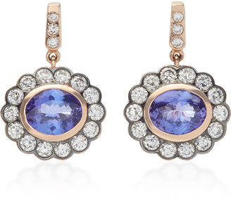 Marlo Laz 14K Rose-Gold and Tanzanite Earrings
