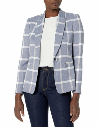 Tahari ASL Women's Undercollar Combo Jacket with Zippers