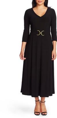 Chaus Belted Tea Length Dress