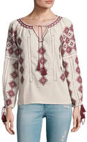 Love Sam Women's Cotton Embroidered Blouse