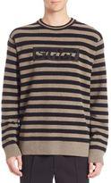 Alexander Wang Striped Embroidered Sweatshirt