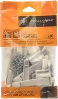 Prince Lionheart Spring Loaded Drawer and Cabinet Latch, 10 Count