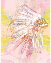 Urban Road Indian War Bonnet Canvas Print, Indian Pink 60x90cm