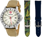Wenger Commando 79304.A.W Men's Stainless Steel and Leather Watch