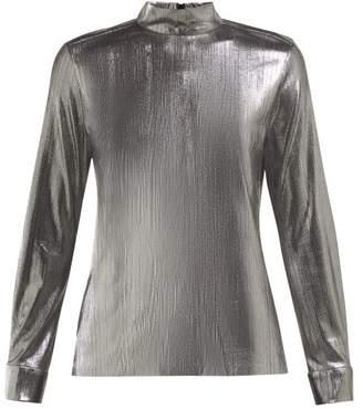 Bella Freud Radzville High-neck Lame Top - Womens - Silver