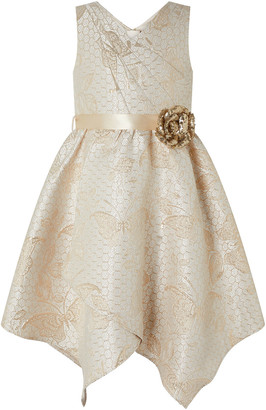 Under Armour Honey Jacquard Dress with Sequin Corsage Gold