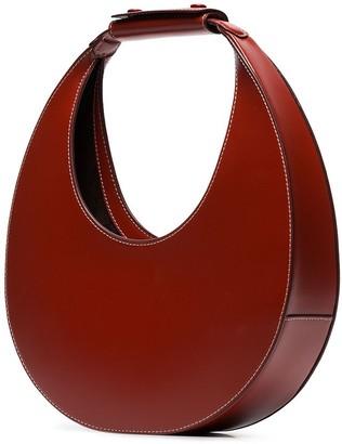 STAUD Red Moon leather shoulder bag