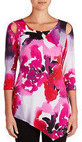 Peter Nygard Floral Cold Shoulder Tunic