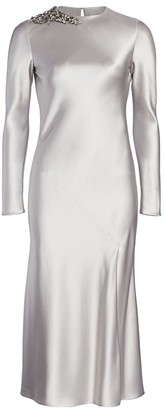 Jason Wu Collection Embellished Satin Cocktail Dress
