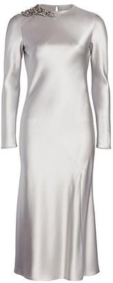 Jason Wu Collection Embellished Satin Cocktail Dress