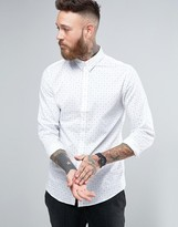 Selected Long Sleeve Slim Shirt in Print