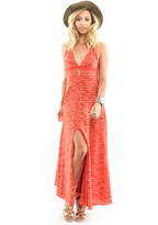 Free People Dramatic Dress in Red Combo