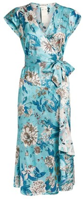 Diane von Furstenberg Gwendolyn Floral Wrap Dress