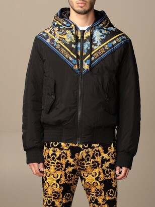 Versace Jeans Couture Nylon Jacket With Baroque Pattern