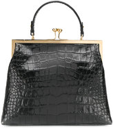 Ermanno Scervino crocodile embossed clasp tote bag