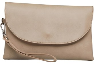 Fluid Womens Clutch Bag With Hand Strap Mink