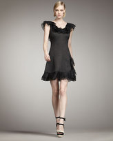 Kiki Ruffled Jacquard Dress