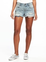 "Old Navy Boyfriend Exposed-Pocket Denim Cutoffs for Women (2 1/2"")"