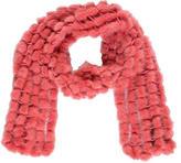 Adrienne Landau Knitted Mink Scarf