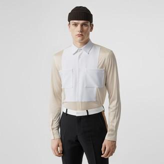 Burberry Classic Fit Neoprene Bib Silk Jersey Shirt