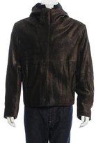 Giorgio Armani Fur-Lined Leather Jacket w/ Tags