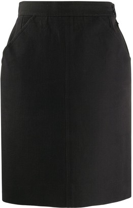 Yves Saint Laurent Pre-Owned 1980s High-Waist Fitted Skirt