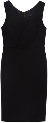 DKNY Sleeveless Pleat Neck Sheath Dress