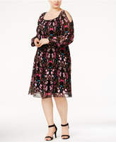 INC International Concepts Plus Size Printed Cold-Shoulder Dress, Created for Macy's