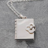 Otis Jaxon Silver Jewellery Book Silver Locket Necklace
