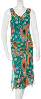 Moschino Silk Printed Midi Dress