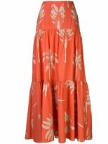Johanna Ortiz Powerful Print Maxi Skirt