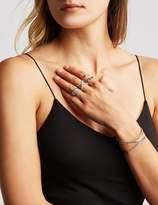 Charlotte Russe Crystal Cuff Bracelet & Stacking Rings Set