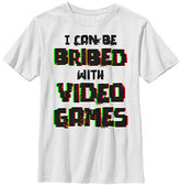 Fifth Sun White 'Bribed With Video Games' Tee - Boys